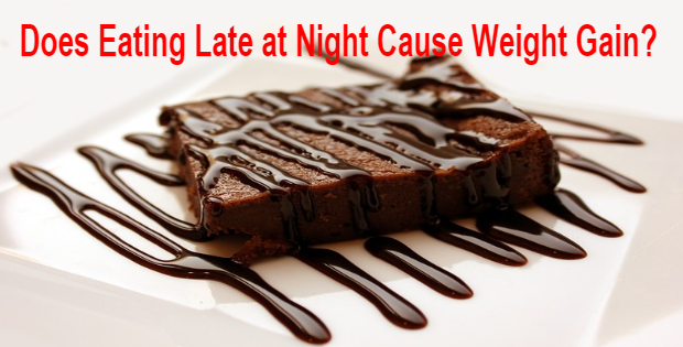 does eating late at night cause weight gain